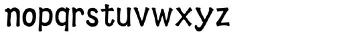 HYWei Bei J Font LOWERCASE