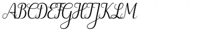Hybi5 Finescript Regular Font UPPERCASE