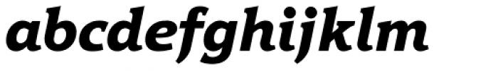 Hybrid ExtraBold Italic Font LOWERCASE