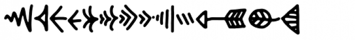 Hyggebukser Things Font LOWERCASE