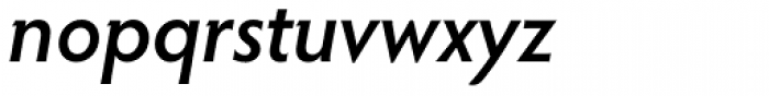 Hypatia Sans Pro SemiBold Italic Font LOWERCASE