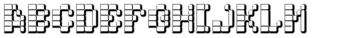 Hypercell DNA Font UPPERCASE