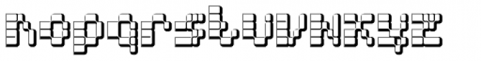 Hypercell DNA Font LOWERCASE