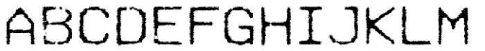 Hypermarket Exp Light Font UPPERCASE