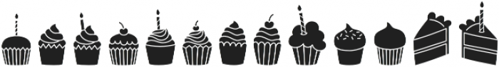 I Heart Cupcakes (Silhouette) otf (400) Font LOWERCASE