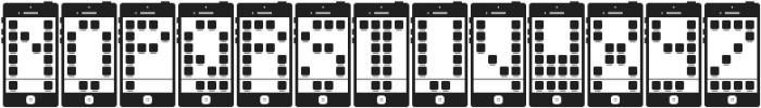 I Phone, You Phone ttf (400) Font UPPERCASE