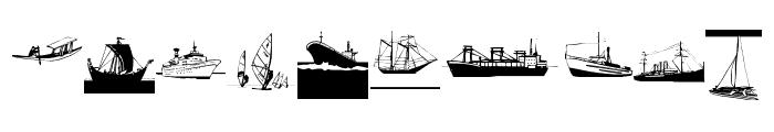 I Am Sailing Font OTHER CHARS