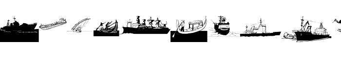 I Am Sailing Font UPPERCASE