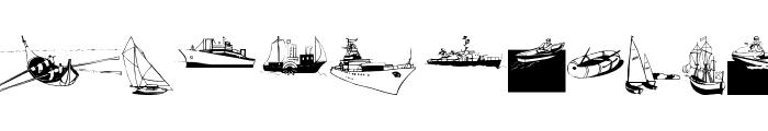 I Am Sailing Font LOWERCASE