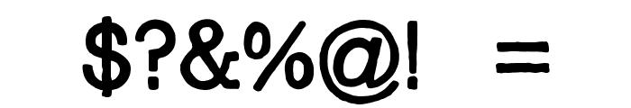 I Am a Rock Regular Font OTHER CHARS