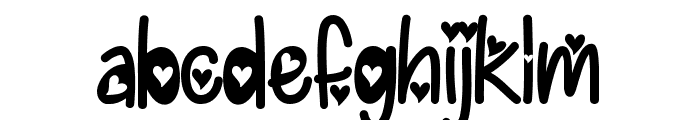 I Found My Valentine Hearted Font LOWERCASE