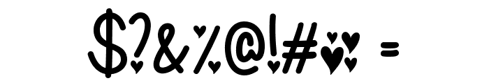 I Found My Valentine Font OTHER CHARS