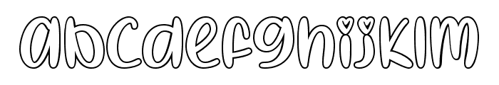 I Heart Coloring Regular Font LOWERCASE