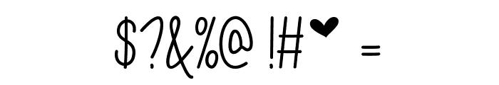 I Love Glitter Font OTHER CHARS