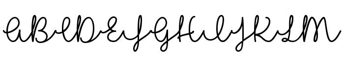 I Love Glitter Font UPPERCASE