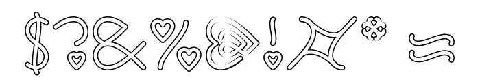 I Love You-Hollow Font OTHER CHARS