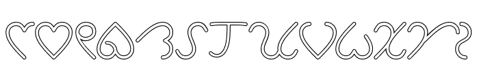 I Love You-Hollow Font UPPERCASE