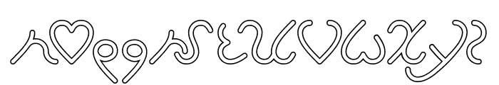 I Love You-Hollow Font LOWERCASE