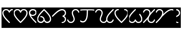 I Love You-Inverse Font UPPERCASE