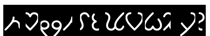 I Love You-Inverse Font LOWERCASE