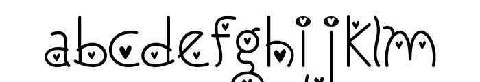 I Love You Monkey [Hearted] Font LOWERCASE