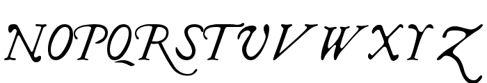 I Regular Font UPPERCASE