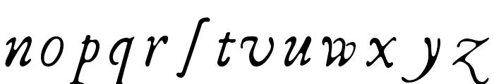 I Regular Font LOWERCASE