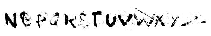 I love Grunge Font UPPERCASE