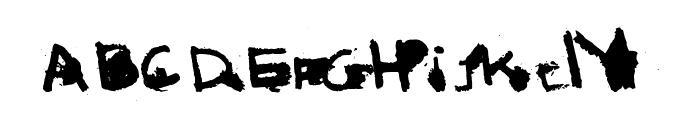 I love Grunge Font LOWERCASE