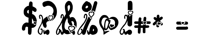 I love you ABC 123 Font OTHER CHARS