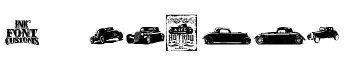 I.F.C. HOTROD TYPE Font OTHER CHARS