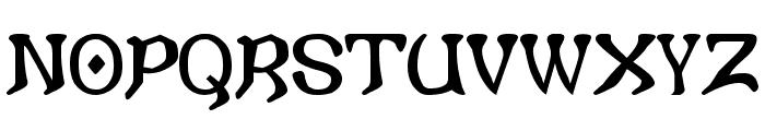 i crashed into gothic Font UPPERCASE