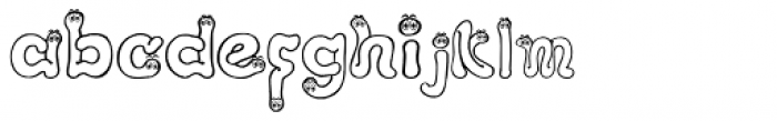 I Am A Worm! Font LOWERCASE