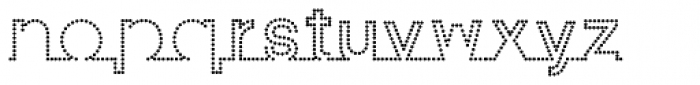 I am online with u Dotted 3 Font LOWERCASE