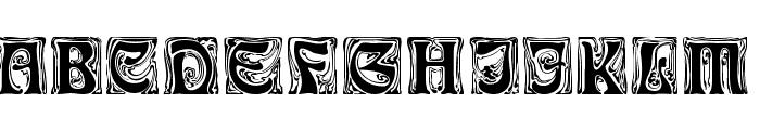 Ian-Bent Font UPPERCASE