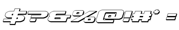 Iapetus 3D Italic Font OTHER CHARS