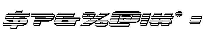 Iapetus Chrome Italic Font OTHER CHARS