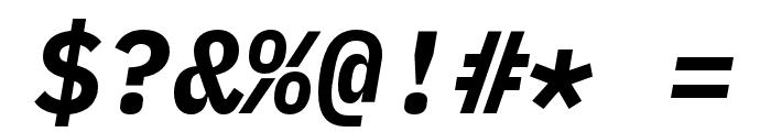 iA Writer Duospace BoldItalic Font OTHER CHARS