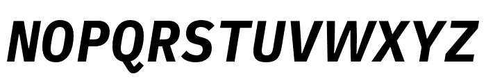 iA Writer Duospace BoldItalic Font UPPERCASE
