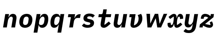 iA Writer Duospace BoldItalic Font LOWERCASE