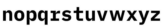 iA Writer Duospace Bold Font LOWERCASE