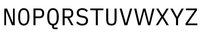 iA Writer Duospace Regular Font UPPERCASE