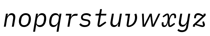iA Writer Duospace RegularItalic Font LOWERCASE