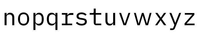 iA Writer Duospace Regular Font LOWERCASE
