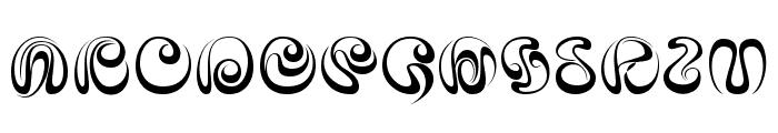iAi Alphabet Font UPPERCASE