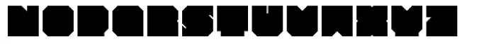 Iamblock Monospace Font UPPERCASE