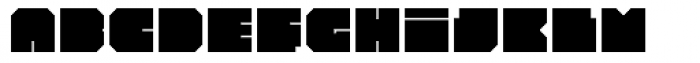 Iamblock Font UPPERCASE