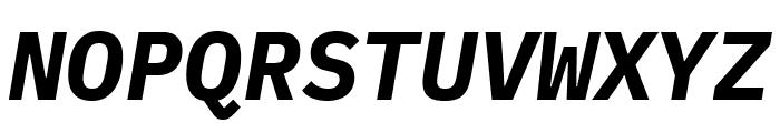IBM Plex Mono Bold Italic Font UPPERCASE