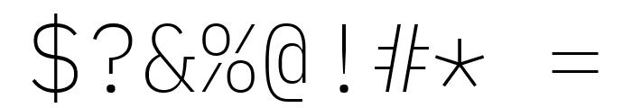 IBM Plex Mono ExtraLight Font OTHER CHARS