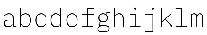IBM Plex Mono ExtraLight Font LOWERCASE